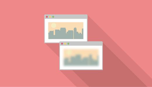 【iOS風】CSSだけで画像に曇りガラスのエフェクトをかける方法